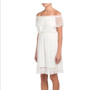 The Koopies ivory lace off the shoulder dress